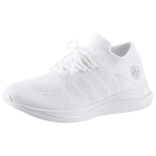 Rieker Slip-On Sneaker mit aufgesetzter Schnürung, weiß