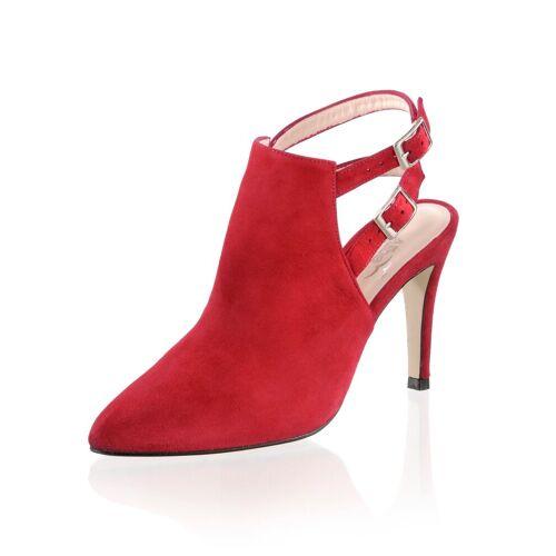 Alba Moda Stiefelette mit zwei Knöchelriemchen, Rot