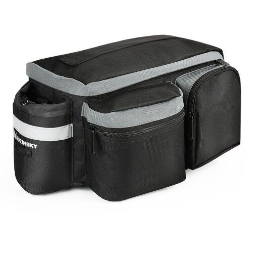Wozinsky Fahrradtasche »Fahrradtasche Gepäcktasche Gepäckträger Fahrrad Bike Radtasche Tasche mit Schulterriemen 6L schwarz«
