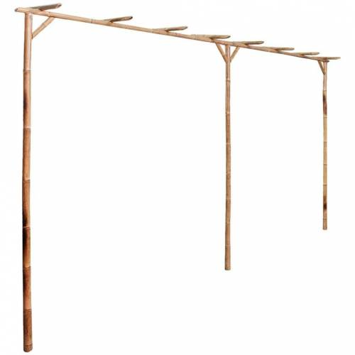vidaXL Pergola »Pergola Bambus 385 x 40 x 205 cm«