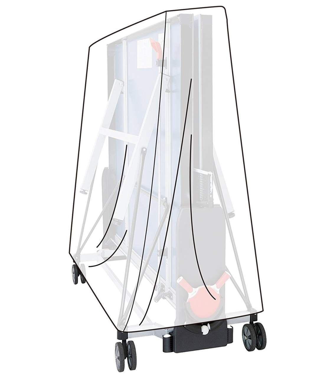 Woltu Schutzplane, Abdeckhaube für Tischtennisplatte Transparent