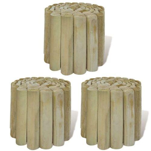 vidaXL Akku-Rasenkantenschneider »Rasenkanten 3 Stk. Holz 250x20 cm«