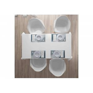 Abakuhaus Tischdecke, »Waschbare Stoff Esszimmer Küche Tischdekorations Digitaldruck«, , (4-teilig, 4 Teilig-St., Set aus 4x), Grau monochromatische Zusammenfassung