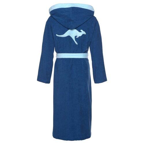 KangaROOS Unisex-Bademantel »Jack«, , mit Kangaroo auf dem Rücken, blau