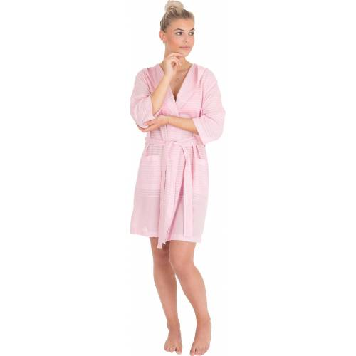 Wewo fashion Damenbademantel »6352«, , aus leichtem Pestemal, rose