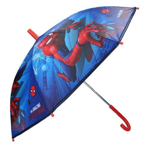 Spiderman Stockregenschirm »Kinder Regenschirm Stockschirm, ∅ 72 cm, blau«
