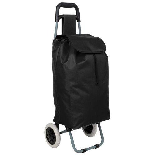 tectake Einkaufstrolley »Einkaufstrolley«, schwarz