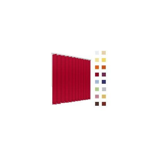 Lamellenvorhang, Lamellen, Vertikallamellen, auf Mass gefertigt, rot