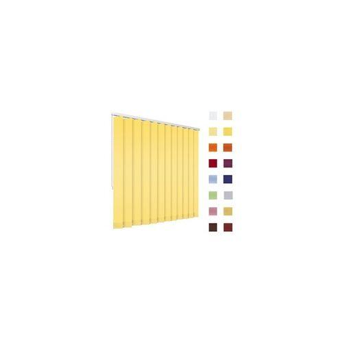 Lamellenvorhang, Lamellen, Vertikallamellen, auf Mass gefertigt, gelb