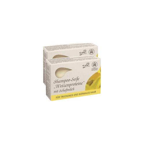 Saling Haarseife Weizenproteine m. Schafmilch 125 g 2er Pack