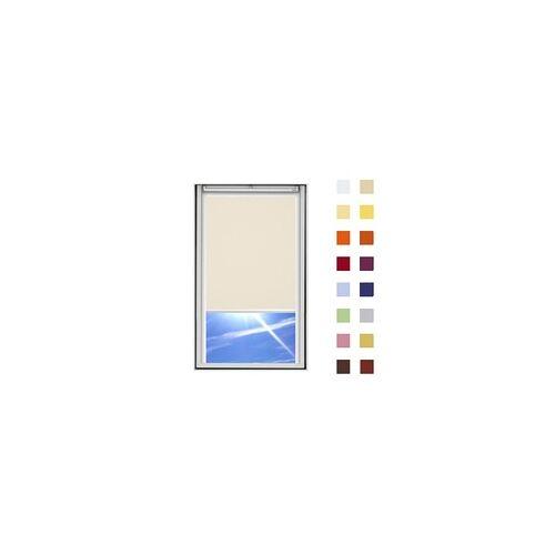 Dachfensterrollo guenstig nach Mass, Stoff Polyester, Farbe beige, mit Kassette oder als Springrollo, weitere 120 Farben im Shop