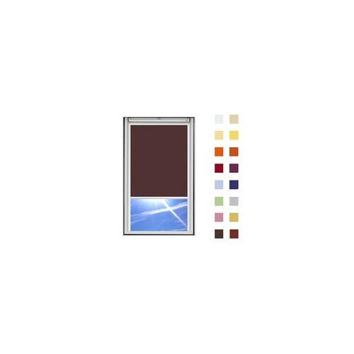 Dachfensterrollo guenstig nach Mass, Stoff Polyester, Farbe braun, mit Kassette oder als Springrollo, weitere 120 Farben im Shop