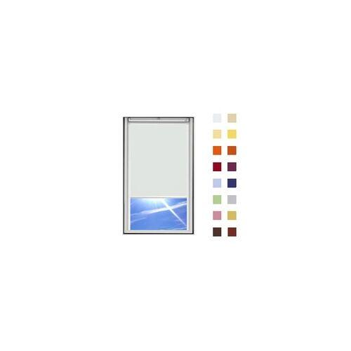 Dachfensterrollo guenstig nach Mass, Stoff Polyester, Farbe hellgrau, mit Kassette oder als Springrollo, weitere 120 Farben im Shop