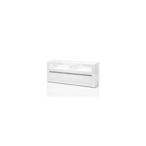 Lowboard Carat - Weiß Hochglanz