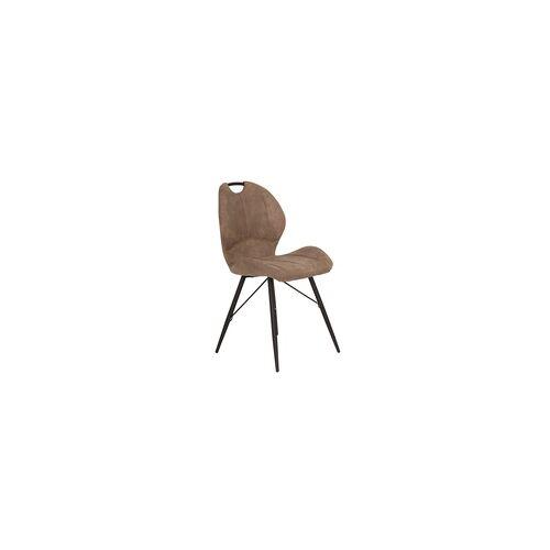 4er Set 4-Fuß Stuhl Kate - Vintage Schlamm