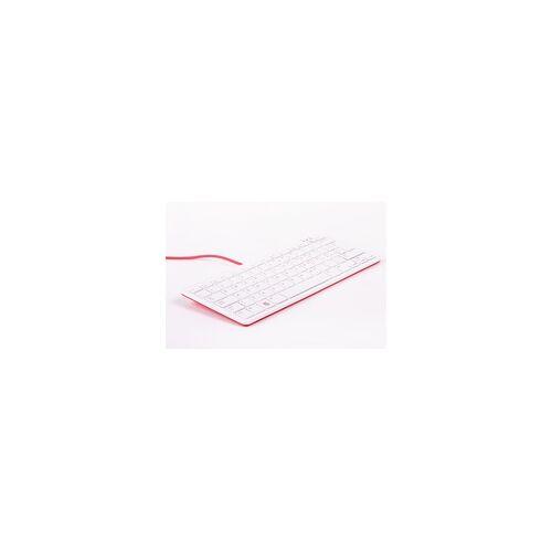 Raspberry offizielle Raspberry Pi Tastatur, IT-Layout, inkl. 3 Port USB Hub, rot/weiß