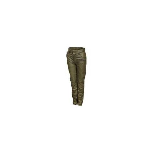 Be Noble Lederhose Leder-Designer Jeans in ECHT-Leder in olive