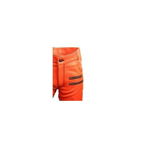 Be Noble Lederhose - Designer Lederhose ECHT-Leder orange