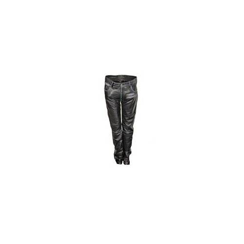 Be Noble Lederhose als Leder Designer Jeans in ECHT-Leder im USED LOOK