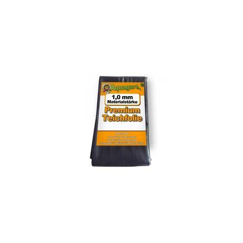 Aquagart Teichfolie PVC 8m x 2m 1,0mm schwarz Folie für den Gartenteich