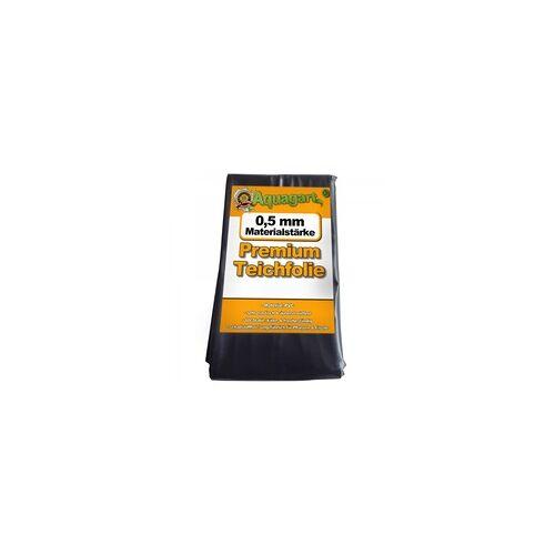 Aquagart Teichfolie PVC 5m x 4m 0,5mm schwarz Folie für den Gartenteich