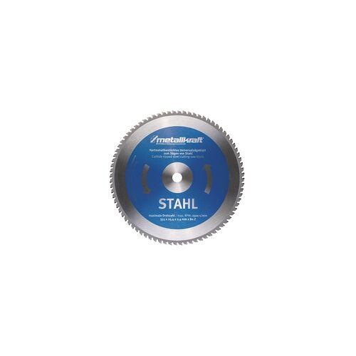 Metallkraft MTS 356 Sägeblatt für Stahl Aluminium bis 6mm, Ø 355 x 2,4 x 25,4 mm - Sägeblätter für Stahl Aluminium