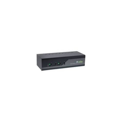 InLine KVM Desktop Switch, 4-fach, Dual-Monitor DisplayPort 1.2, 4K, USB 3.0...