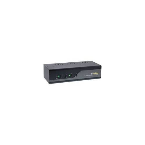 InLine KVM Desktop Switch, 4-fach, Dual Monitor, HDMI 2.0, 4K, USB 3.0, Audio