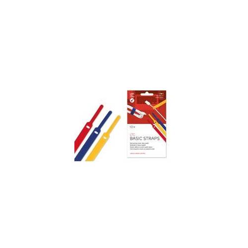Label the Cable Label-The-Cable Basic, LTC 1130, 10er Set mix (gelb, blau, rot)