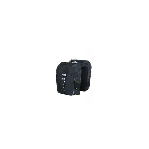 Basil Miles - doppelte Fahrradtasche - 34 Liter - schwarz Taschenvariante - Packtasche/Gebäcktasche,
