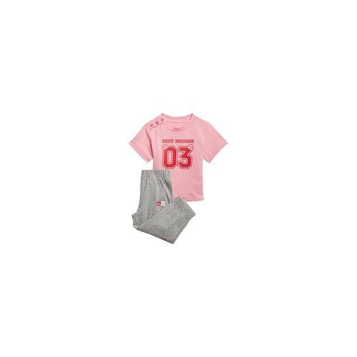 Adidas Kinder Jogginganzug Babyjogger I DSNY T SET - light pink/vivid red