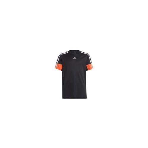 Adidas Jungen B A.r. 3s Tee Unterhemd - black/white/true orange