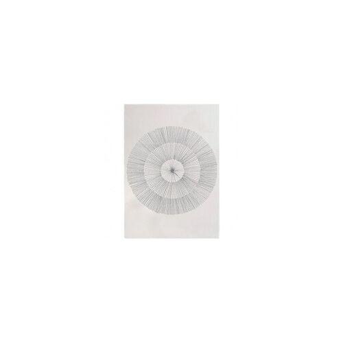 Edito Kurzflor Designer Teppich Edito Pissenlit AR007 grau in 160 x 230 cm