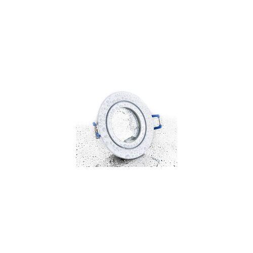 LC Light LC-Light Druckguss Einbaustrahler rund Weiß Matt IP44 MR11