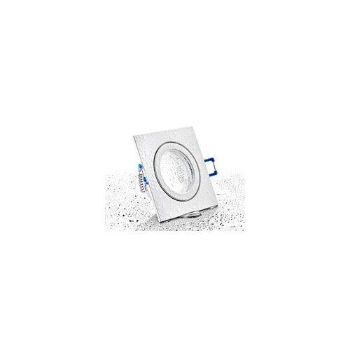 LC Light LC-Light Druckguss Einbaustrahler viereckig Weiß Matt IP44 MR11