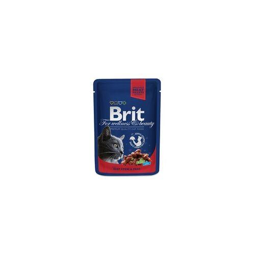 BRIT Cat Rind und Erbsen 100g