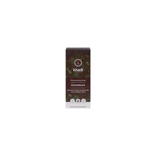 Khadi Pflanzenhaarfarbe Nußbraun 100 g