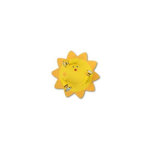 Waldi Leuchten Waldi Kinderzimmer Deckenleuchte Sonne 3-flg