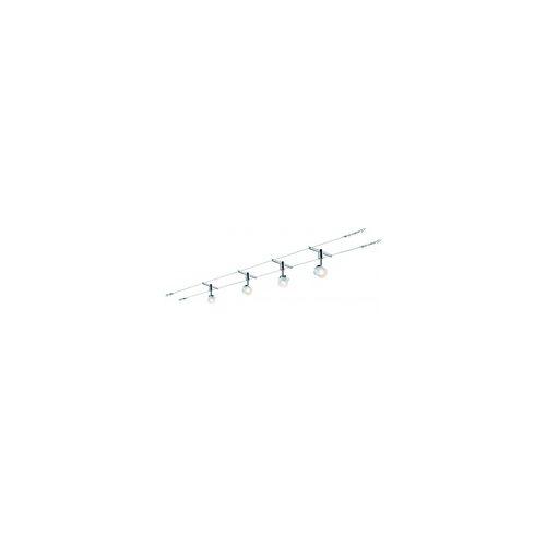 Paulmann Licht Paulmann Seil-Set, LED, 4x5W, Stage 230/12V, Weiß/Chrom
