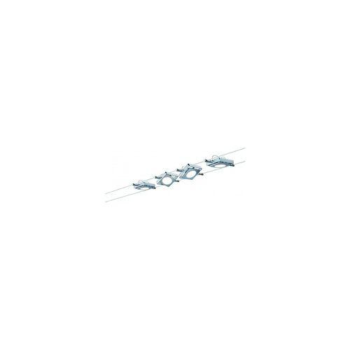 Paulmann Licht Paulmann Seil-Set, LED, 4x4W, MacLED 230V/12V DC Chrom matt