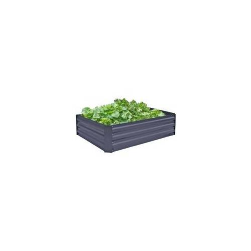 Harms Import Hochbeet Beet-Umrandung Garten Veranda Balkon Pflanzen-Bett anthrazit Terrasse