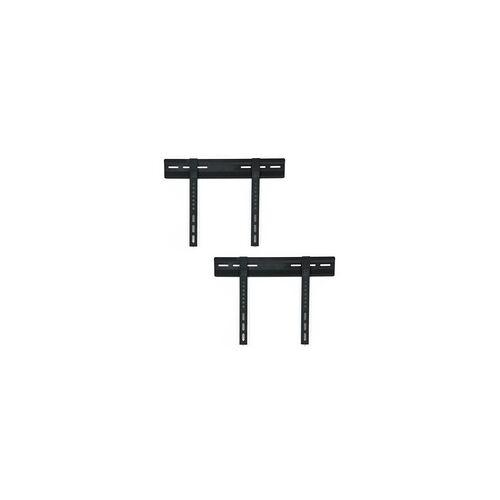 ETC Shop 2x LCD Plasma LED TV Fernseher Wand Halterung 23-(58cm)-37-(94cm) flach schwarz