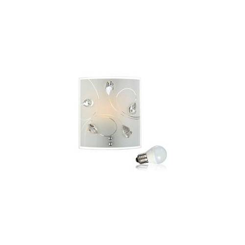 ETC Shop 4 Watt LED Wand Leuchte Kristall Beleuchtung Glas Muster Lampe klar
