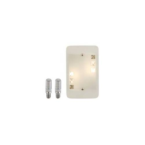 ETC Shop LED 6 Watt Design Wand Lampe Leuchte Metall Beleuchtung Glas Diele Flur Wohnzimmer