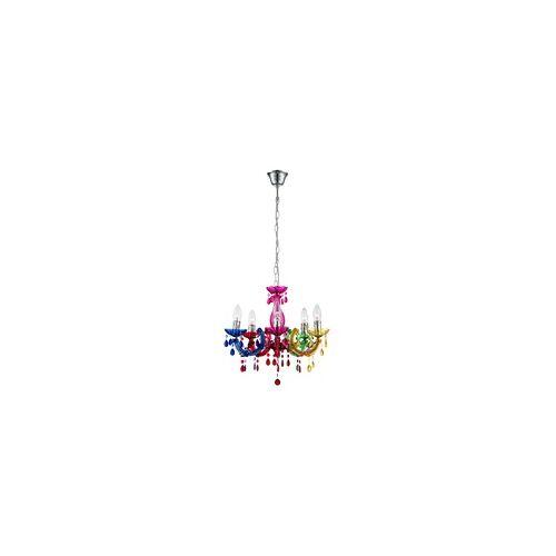 ETC Shop LED 15 Watt Kronleuchter Decken Lampe Chrom Luster Pendel Leuchte Wohnzimmer EEK A+