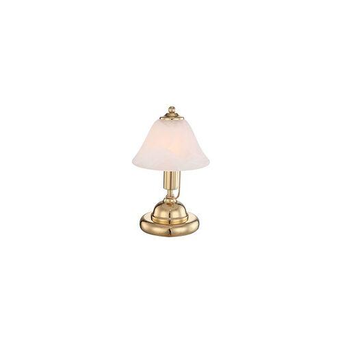ETC Shop LED Design Messing Tischlampe Leuchte Touch-Schalter Beleuchtung Höhe 27 cm Nachtlicht Touch-Schalter