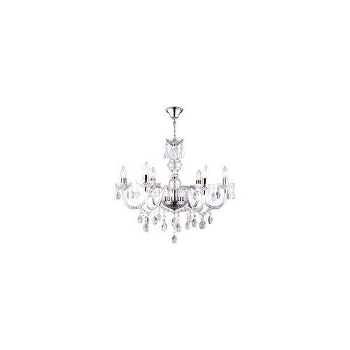 ETC Shop LED Design Kronleuchter Decken-Lampe Pendel- Hänge-Beleuchtung Wohn- Schlaf- Zimmer Chrom