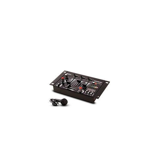 ETC Shop DJ PA Stereo Mischpult USB MP3 Party Kompakt Mixer 4 Kanal im Set inklusive Mikrofon