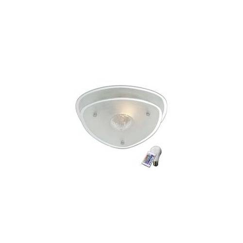 ETC Shop Decken Lampe Glas Kristall Esszimmer Leuchte Fernbedienung Dimmer im Set inkl. RGB LED Leuchtmittel