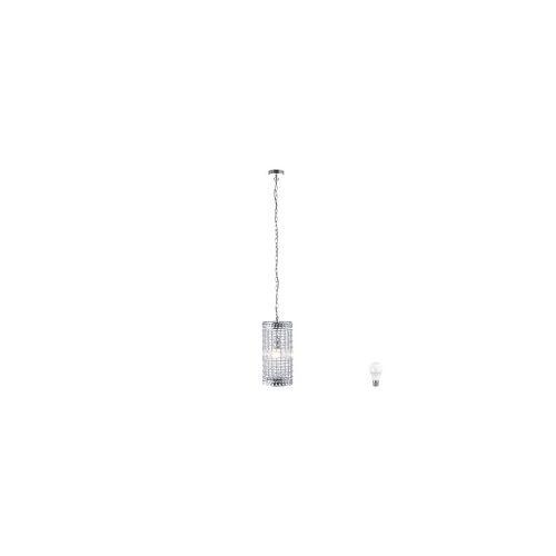 ETC Shop Pendel Decken Kristall Strahler Esszimmer Leuchte chrom im Set inkl. LED Leuchtmittel